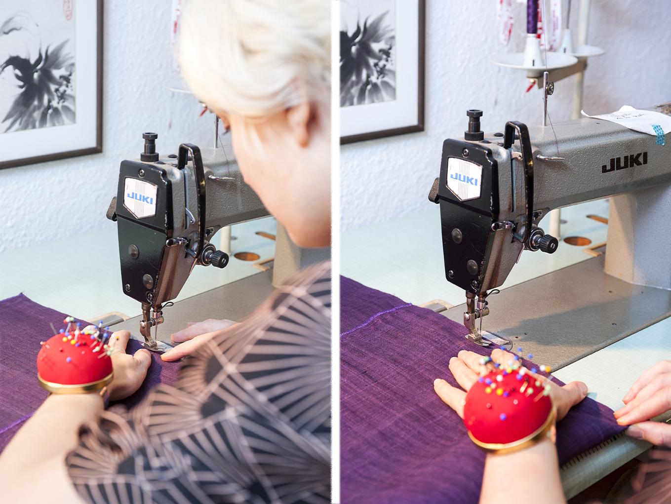 Marie Labarelle - Atelier - La couture machine