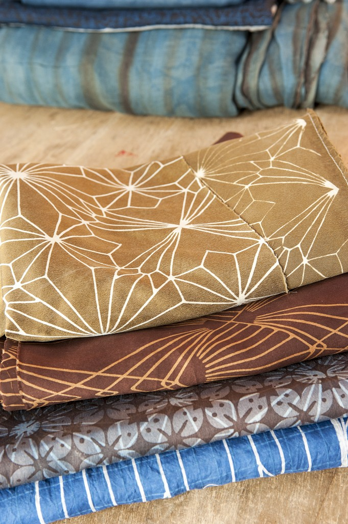 Marie Labarelle - Atelier - Batiks en soie - Design Marie Labarelle